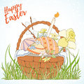 Happy Easter Card Stock Photography - 92354422