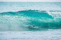 Blue Barrel Wave In Tropical Ocean. Wave Crashing And Sun Light. Clear Water. Royalty Free Stock Image - 92364966