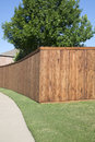 Nice Wooden Fence Of A House In The Backyard Stock Images - 92367944