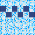 Blue And Beige Ceramic Tile Mosaic In Swimming Pool Royalty Free Stock Image - 92370636