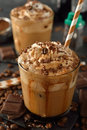 Cold Frappe Coffee With Cream Royalty Free Stock Photos - 92379178