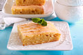 Coconut Cake With Icing, Sliced Royalty Free Stock Photo - 92386435