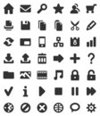 Web And Multimedia Icons Royalty Free Stock Photography - 9247097