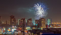 Fireworks Over The City Royalty Free Stock Image - 92419916