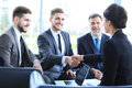 Business People Shaking Hands, Finishing Up A Meeting. Royalty Free Stock Photo - 92421065