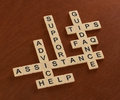 Crossword Puzzle With Words Support, Help, FAQ, Assistance. Cust Stock Image - 92422011