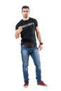Young Confident Police Officer In Plain Civilian Clothes With Clenched Fist Stock Image - 92442481