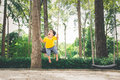 Cute Little Asian Boy In A Park On A Nice Day Outdoors Royalty Free Stock Photos - 92452838