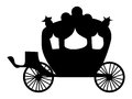 Silhouette Of Carriage Stock Image - 92458401