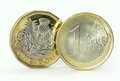 Euro And Pound Coin Royalty Free Stock Image - 92458436