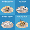 Isometric Air Force Icon Set Stock Photography - 92460382