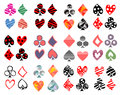 Vector Set Of Playing Card Symbols. Hand Drawn Different Ornamental, Lined, Triangular, Dotted Decorative Icons, Graphic Illustrat Stock Photos - 92467563