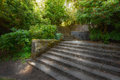 Old Garden With Stone Walls And Stair Steps Stock Photography - 92481172