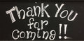 Thank You For Coming Sign Royalty Free Stock Photography - 92495887