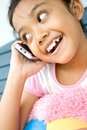 Child And Cellphone Stock Image - 9257751