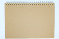 Brown Cover Notebook Background Stock Image - 92500641