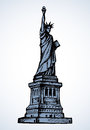 Statue Of Liberty. Vector Sketch Royalty Free Stock Photography - 92537137