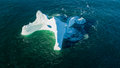 Aerial View Iceberg With A Large Hole, Newfoundland Royalty Free Stock Photos - 92557348