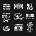 Vector Collection Of Quote Typographical Background Stock Image - 92577711