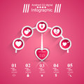 3D  Illustration Infographic. Heart, Speedometer Icon. Royalty Free Stock Image - 92601596