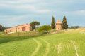The Little Church Of Vitaleta In Val D`Orcia Stock Photography - 92608662