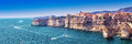 Bonifacio On Beautiful White Rock Cliff With Sea Bay, Corsica, France, Europe. Stock Image - 92614191