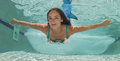 Model In A Pool Wearing A Mermaid`s Tail. Stock Images - 92621184