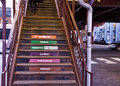Chicago`s Elevated `el` Transportation System - Stairs Leading Up To Train Platform Stock Photography - 92623752