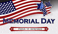Happy Memorial Day Background Template. Stars And American Flag. Patriotic Banner. Vector Illustration. Stock Photo - 92627160