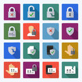 Set Of Data Security And Password Flat Vector Icons Stock Images - 92630144