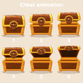 Animation Step By Step Open And Closed Wooden Chest Stock Images - 92635104