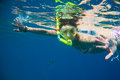 Girl Engaged In Snorkeling Stock Image - 92651251