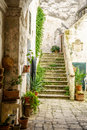 Charming Italian Courtyard Stock Image - 92659541