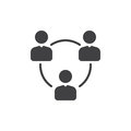 People Circle, Group Of Users Icon Vector, Filled Flat Sign, Solid Pictogram Isolated On White. Symbol, Logo Illustration. Pixel P Stock Photography - 92661452