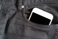 Close Up Of Smartphone In Front Pocket On Pants Royalty Free Stock Image - 92661536