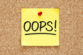 Oops Sticky Note Royalty Free Stock Photography - 92680037