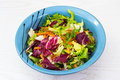 Mix Of Fresh Salad Leaves Of Different Varieties Stock Photos - 92682323
