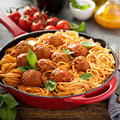 Spaghetti With Tomato Sauce And Meatballs Royalty Free Stock Photo - 92689025