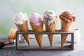 Variety Of Ice Cream Cones Royalty Free Stock Photography - 92689277