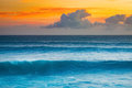 Big Wave Of Indian Ocean At Sunset Royalty Free Stock Photo - 92694385