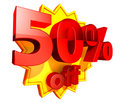 50 Percent Price Off Discount Royalty Free Stock Photos - 9274118