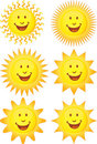 Set Of 3D Suns Royalty Free Stock Image - 9275016