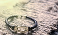 Gold And Leather Bracelet Royalty Free Stock Image - 92702626