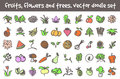 Vector Doodle Icons Set Stock Photo - 92735260