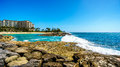 Waves Breaking On The Barriers Of The Lagoons At The Resort Community Of Ko Olina Royalty Free Stock Photo - 92736255