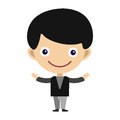 Boy Portrait Fun Happy Young Expression Cute Teenager Cartoon Character Little Kid Flat Vector Illustration. Stock Image - 92743051