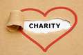 Charity Torn Paper Stock Photo - 92747360