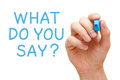 What Do You Say Stock Images - 92749914