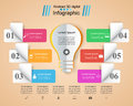 Infographic Design. Bulb, Light Icon. Royalty Free Stock Photos - 92755368