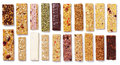 Set Of Granola Bars Muesli Or Cereal Bar Isolated On White Stock Photo - 92756360